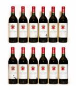 Chateau Langoa Barton, 4eme Cru Classe, St Julien, 1987, twelve bottles