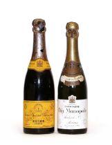 Veuve Clicquot Ponsardin, 1937, 1 half btl and Heidsieck & Co., Dry Monopole, 1941, 1 half btl