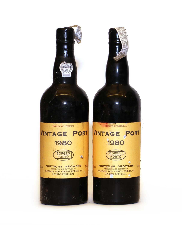 Borges, Vintage Port, 1980, two bottles