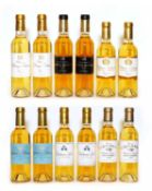 Assorted 2010 sweet wine, to include Ch Liot, Ch Guiraud and others, twelve half bottles in total