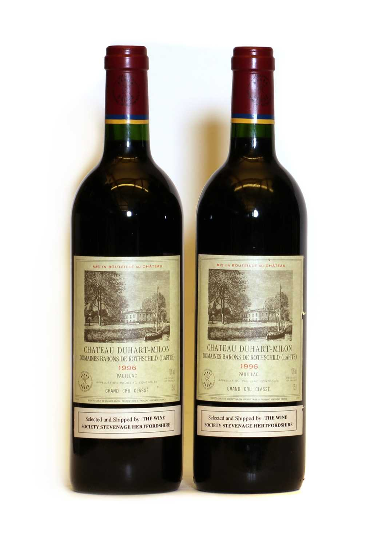 Chateau Duhart Milon, 4eme Cru Classe, Pauillac, 1996, two bottles