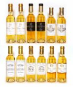 Assorted 2014 sweet wine to include Ch Sigalas, Ch Coutet and others, 12 half bottles in total