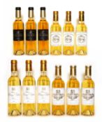 Assorted 2013 sweet wine, to include Ch Coutet, Ch Guiraud and two others, 12 half bottles in total