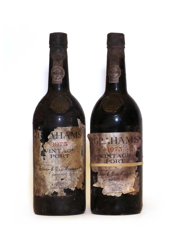 Grahams, Vintage Port, 1975, two bottles