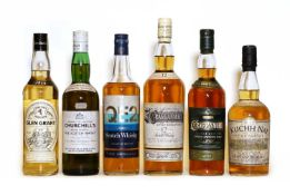 Assorted Whisky: Cragganmore, Double Matured Single Speyside Malt, one bottle & five various others