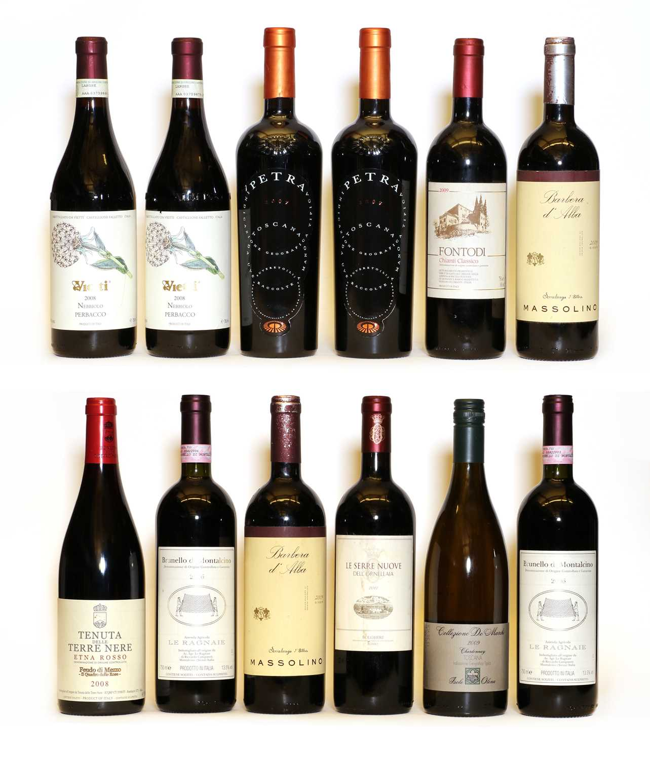 Assorted Italian wine: Barolo, Massolino, 2009, two bottles and ten various others