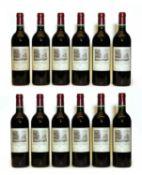 Chateau Duhart Milon, 4eme Cru Classe, Pauillac, 1996, twelve bottles (OWC)