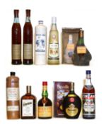 Assorted Spirits: Adega Velha, Aguardente, Res da Casa d'Avelleda, 2 bottles and 8 various others