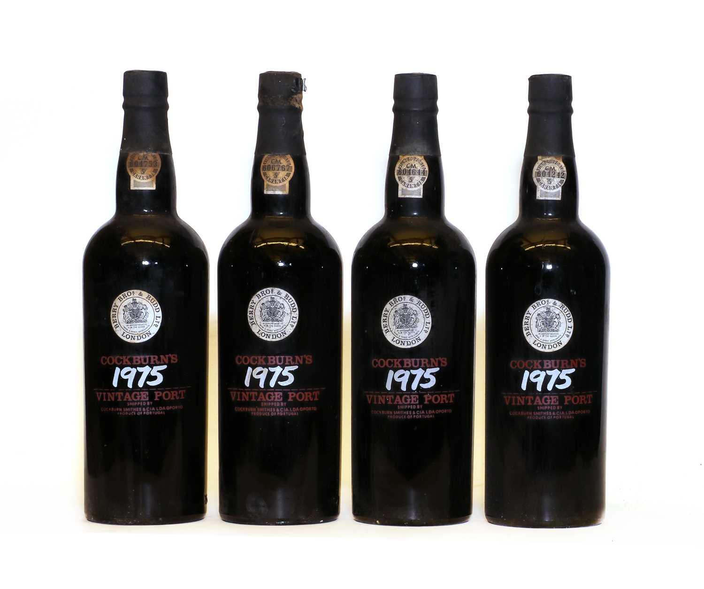Cockburns, Vintage Port, 1975, four bottles