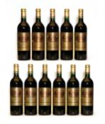 Chateau Batailley, 5eme Cru Classe, Pauillac, 1996, eleven bottles