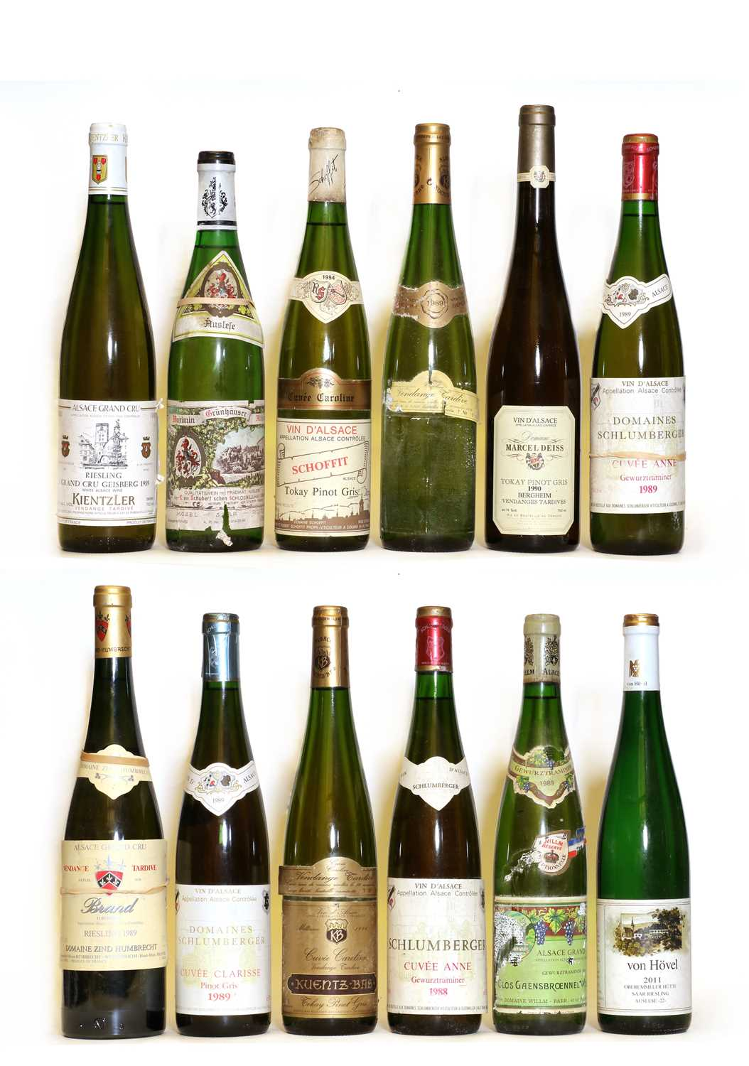 Assorted German and Alsatian: Tokay Pinot Gris, Schoffit, 1994, one bottle and 11 various others