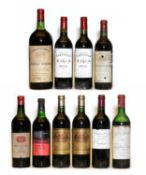 Assorted Bordeaux: Chateau Rauzan Segla, Margaux, 1957, one bottle and nine various others