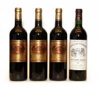 Chateau Batailley, 5eme Cru Classe, Pauillac, 2007, three bottles