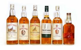 Assorted whisky: The Buchanan Blend, 8 Years Old, 1980s bottling, one bottle and five various