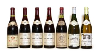 Assorted Burgundy: Santenay, Domaine Lequin Roussot, 1983, three bottles and four various others