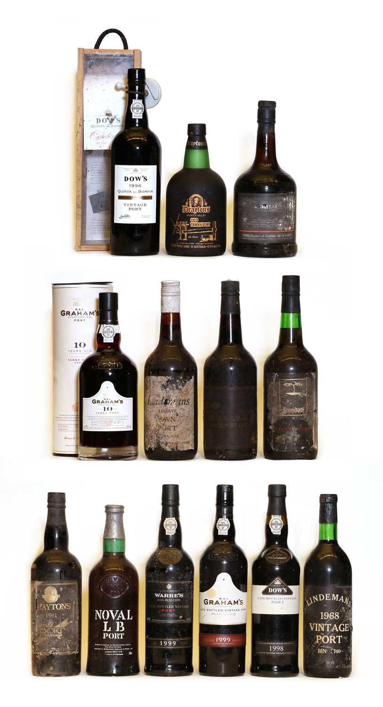 Assorted Vintage Port: Lindemans, Bin 3740, Australia, 1968, one bottle and 12 various others