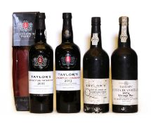 Assorted Taylors Vintage Port: Quinta de Vargellas, 1974, one bottle and three various others