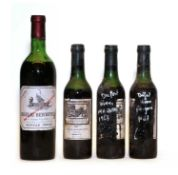 Chateau Durfort Vivens, 1967, three half bottles and Chateau Beychevelle, 1970, one bottle
