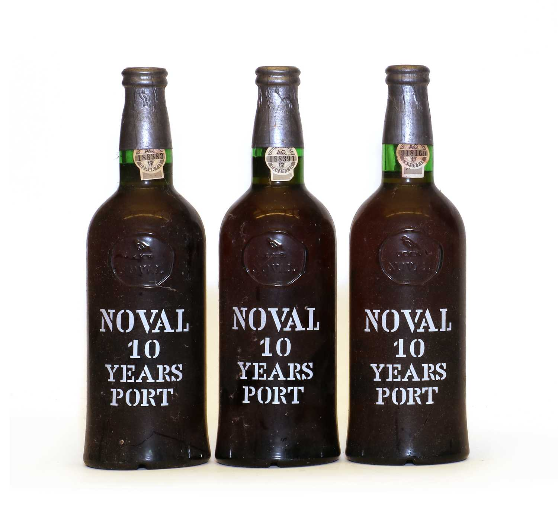 Quinta Do Noval, Ten Year Old Tawny Port, Bottled 1985, three bottles