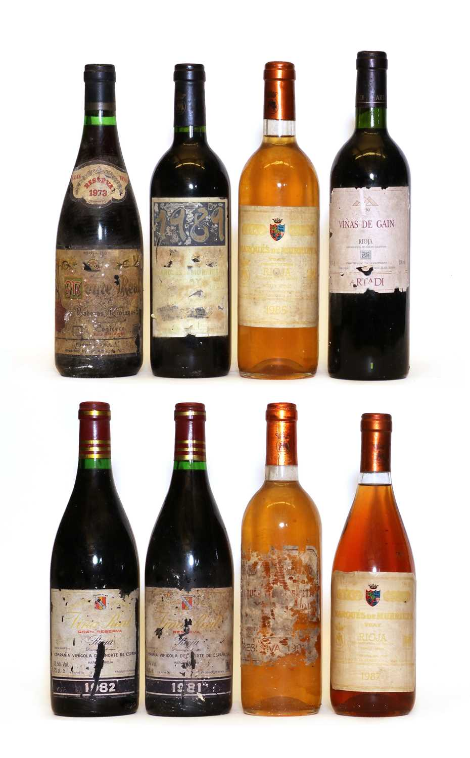 Assorted Rioja: Rioja Gran Reserva, Vina Real, CVNE, 1982, one bottle and seven various others