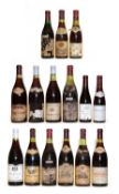 Assorted Red Burgundy: Echezeaux, Georges Clerget, 1984, one bottle and 14 variously sized others