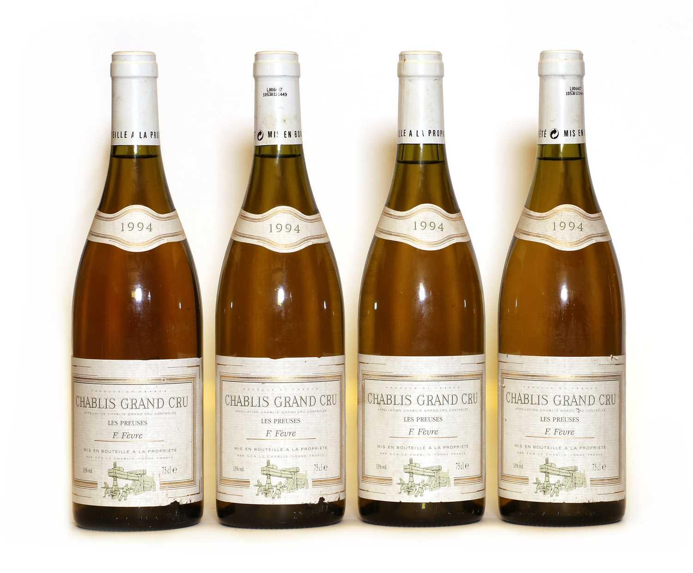 Chablis, Les Preuses, Grand Cru, Domaine Fevre, 1994, four bottles