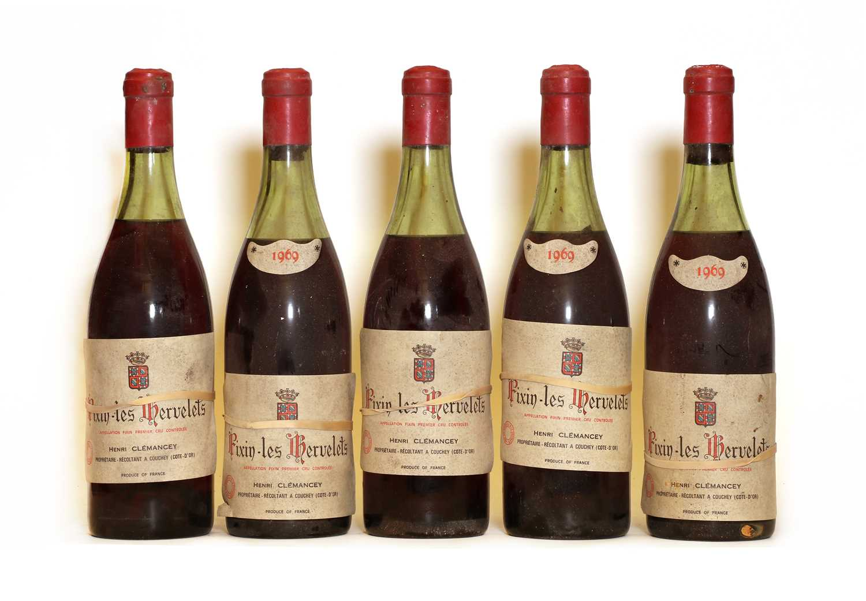 Fixin, 1er Cru, Les Hervelets, Henri Clemancey, 1969, five bottles