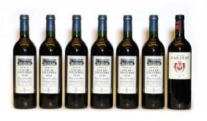 Chateau Cap de Faugeres, Cotes de Castillon, 2000, six bottles and one various other