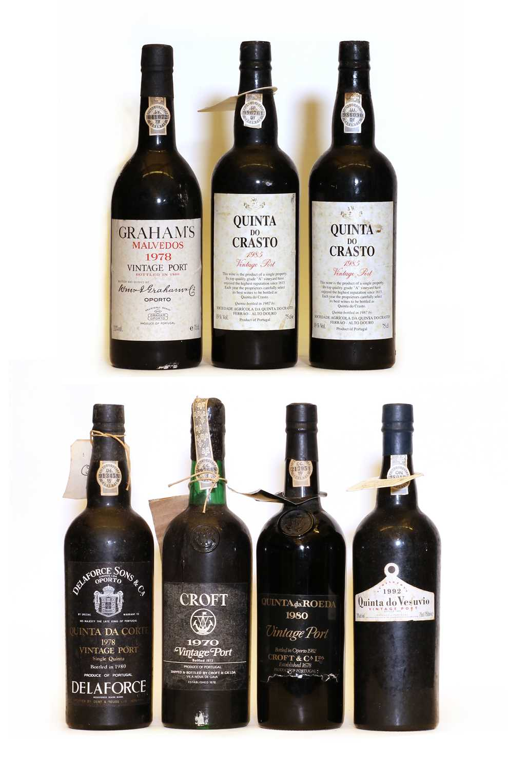 Assorted Vintage Port: Quinta do Vesuvio, Vintage Port, 1992, one bottle and six various others