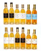 Assorted sweet wine to include Ch Rieussec, 2010 and others, 2005 and 2010, 12 half bottles in