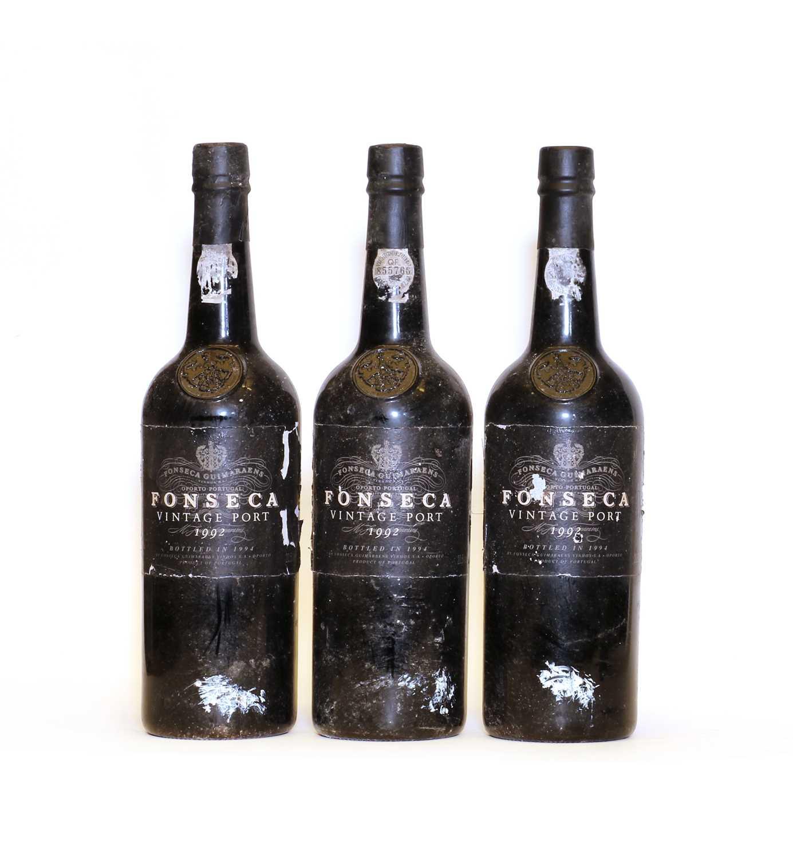 Fonseca, Vintage Port, 1992, three bottles