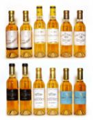 Assorted 2009 sweet wine to include Ch Clos Haut Peyraguey and others, 12 half bottles in total