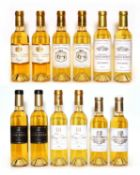 Assorted 2014 sweet wine to include Ch Guiraud, Ch Coutet and others, twelve half bottles in total