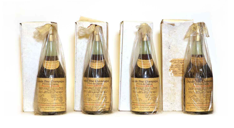 Maurice Gourry, Domaine de Chadeville, Grand Fine Champagne Cognac, 1960s bottling, four bottles