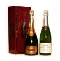 Krug, Grand Cuvee, Reims, NV and Fortnum and Mason, Blanc de Blancs Grand Cru, NV, one bottle each