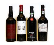 Assorted Wine and Port: Chateau Kirwan, Margaux, 1996, one bottle and three various others