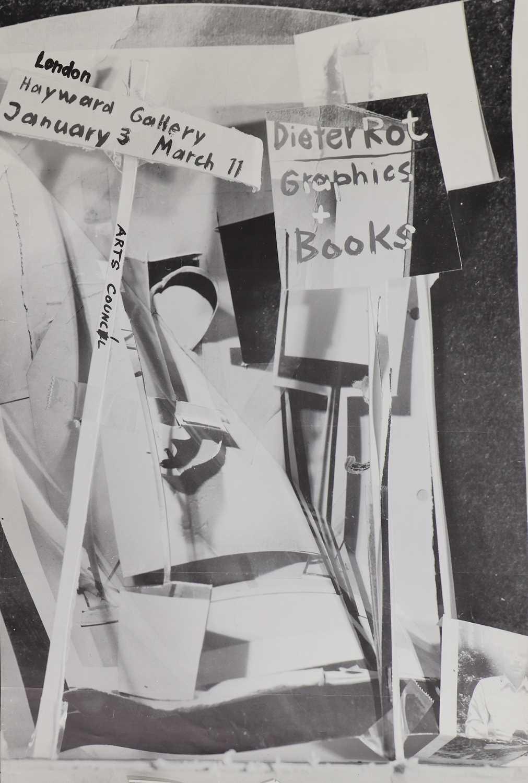 Exhibition Poster for Dieter Roth: Bucher & Grafik, Hayward Gallery, London 1973