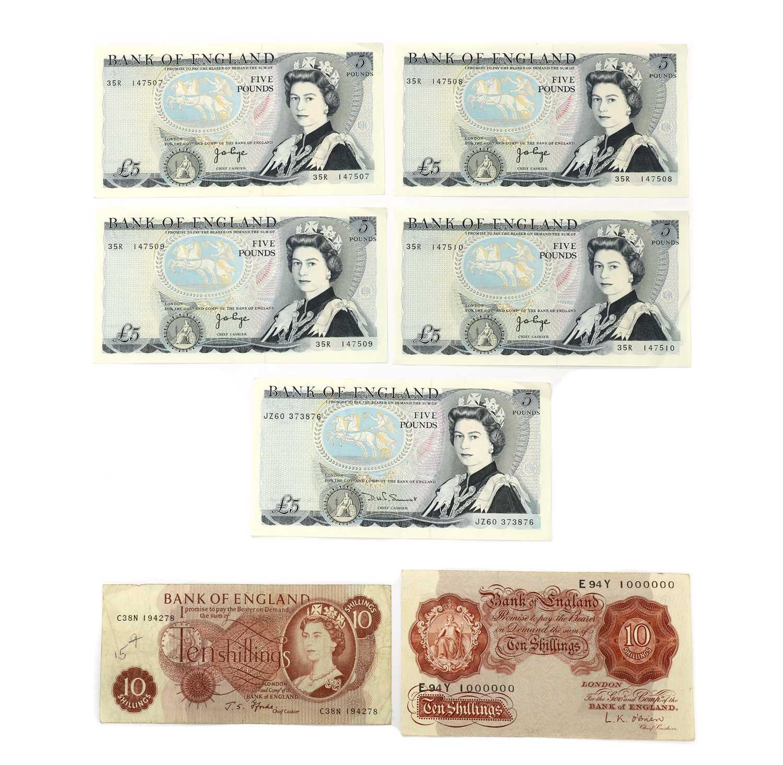 Banknotes, Great Britain, Elizabeth II (1952-), - Image 6 of 6
