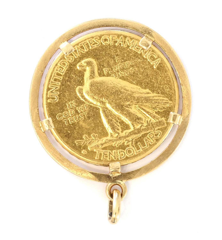 Coins, USA, Ten Dollars 'Eagle' gold coin, - Image 2 of 2