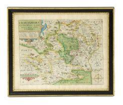 William Kipp 17th century map of Hertfordshire,