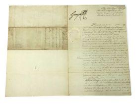 George IV: Document signed,