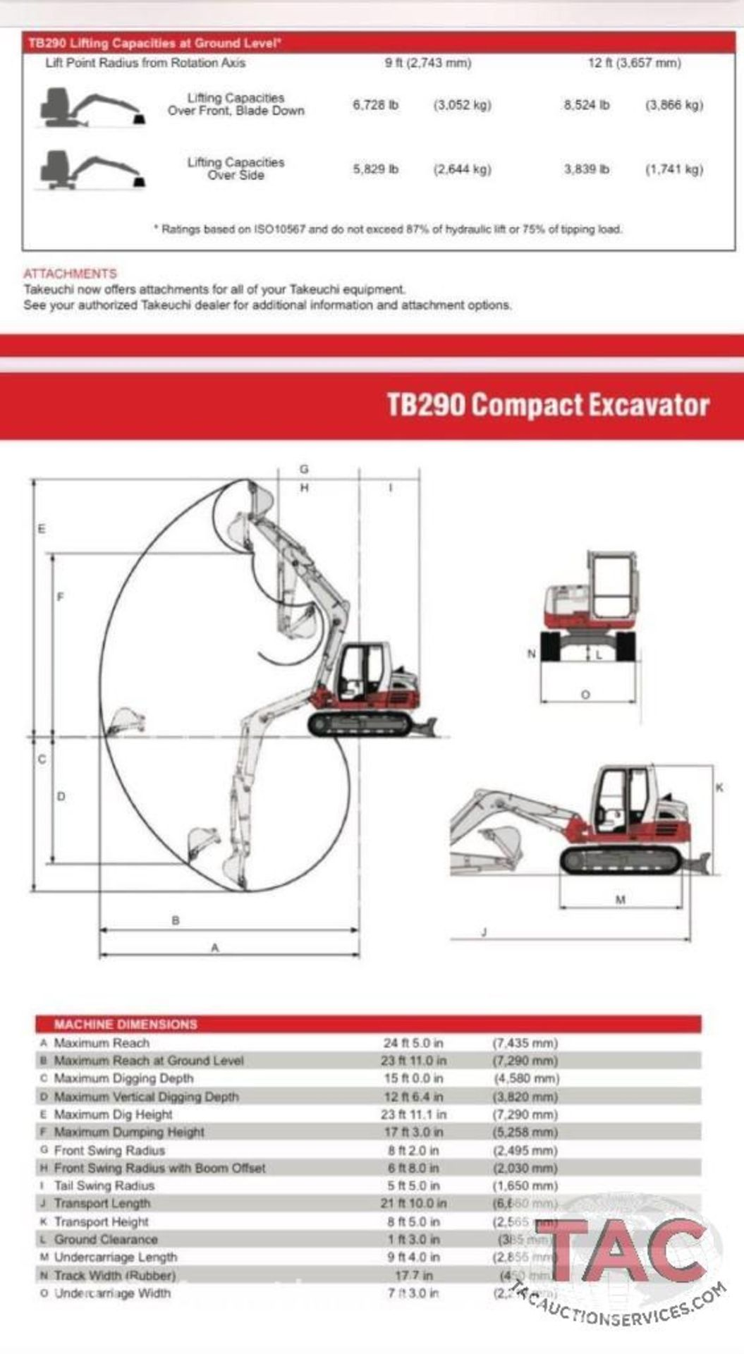 2017 Takeuchi TB290 Excavator - Image 45 of 45