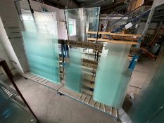 3 x Metal Glass Racks inc Glass