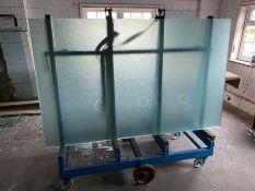 2 x Mobile Metal Glass Trolley inc Glass