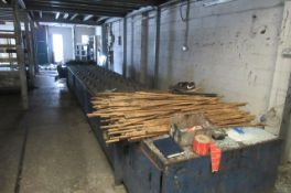 Assembly/drying conveyor 7.2m long x 1.1m wide.
