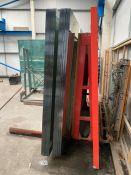 2 x Packs of Glass on Heavy Duty Metal Rack