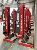 Totalkare 7,500kg cable free mobile column vehicle lifts Qty 4.