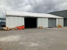 Alloy portal frame temporary building