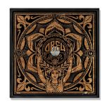 Shepard Fairey (American 1970-), 'Lotus Woman (Wood)' 2014