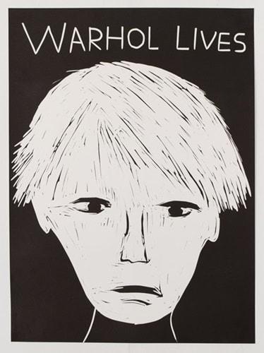 David Shrigley (British 1968-), 'Warhol Lives', 2019